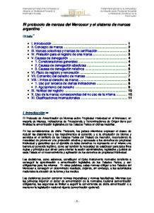 El protocolo de marcas del Mercosur y el sistema de marcas argentino *