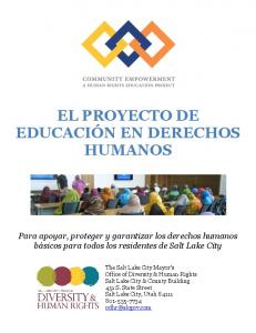 EL PROYECTO DE EDUCACIÓN EN DERECHOS HUMANOS