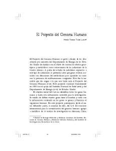 El Proyecto del Genoma Humano
