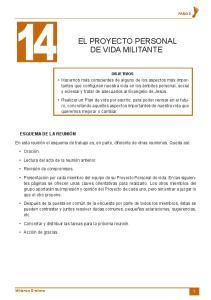 EL PROYECTO PERSONAL DE VIDA MILITANTE