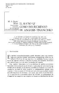 EL RATIO 'Q' COMO INSTRUMENTO DE ANALISIS FINANCIERO