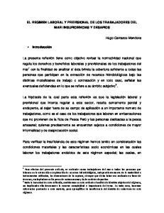 EL REGIMEN LABORAL Y PREVISIONAL DE LOS TRABAJADORES DEL MAR: INSUFICIENCIAS Y DESAFIOS