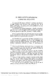 EL REHILAMIENTO BONAERENSE A FINES DEL SIGLO XVIII