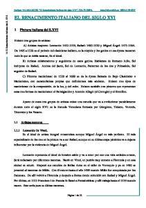 EL RENACIMIENTO ITALIANO DEL SIGLO XVI