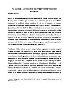 EL RESPETO A LOS DERECHOS HUMANOS EN PRISIONES DE ALTA SEGURIDAD