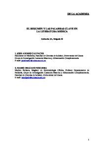 EL RESUMEN Y LAS PALABRAS CLAVE EN LA LITERATURA MEDICA
