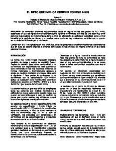 EL RETO QUE IMPLICA CUMPLIR CON ISO 14253
