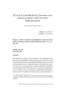 El rol de la Contabilidad de Coberturas en la empresa moderna, desde el modelo IASB para pymes