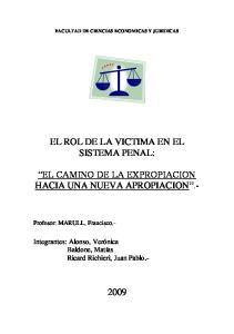 EL ROL DE LA VICTIMA EN EL SISTEMA PENAL:
