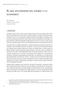 EL ROL INTEGRADOR DEL ESTADO Y LA