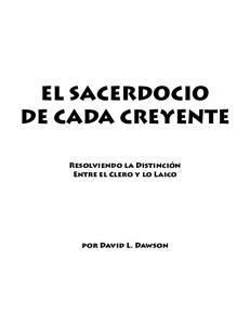 EL SACERDOCIO DE CADA CREYENTE