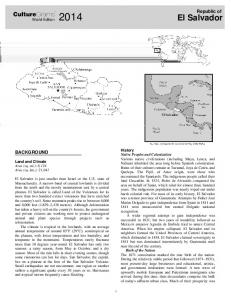 El Salvador. CultureGrams. Republic of BACKGROUND. World Edition