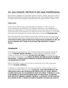 EL SALVADOR: RETRATO DE UNA PARROQUIA