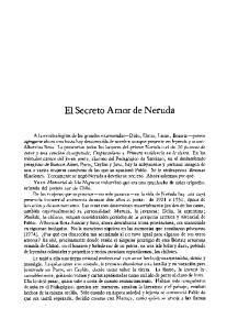 El Secreto Amor de Neruda
