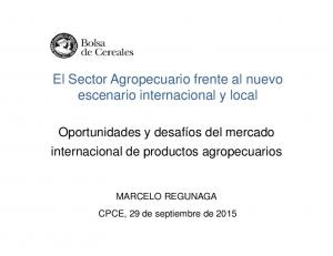El Sector Agropecuario frente al nuevo escenario internacional y local