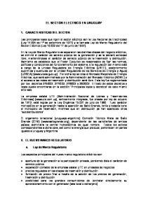 EL SECTOR ELECTRICO EN URUGUAY