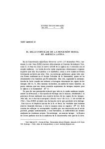 EL SELLO CONCILIAR DE LA REFLEXIÓN MORAL EN AMÉRICA LATINA