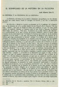 EL SIGNIFICADO DE LA HISTORIA EN LA FILOSOFIA