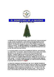 EL SIGNIFICADO DE LA NAVIDAD por RALPH M. LEWIS, F.R.C
