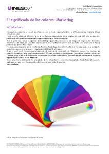 El significado de los colores: Marketing
