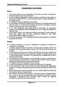 EL SIGNIFICADO DE LOS COLORES: