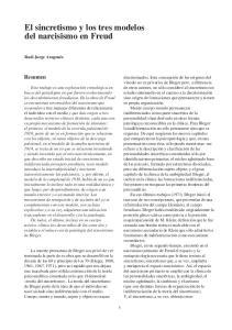 El sincretismo y los tres modelos del narcisismo en Freud