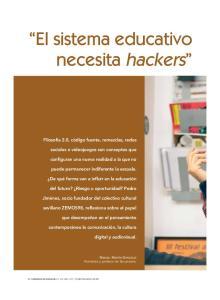 El sistema educativo necesita hackers