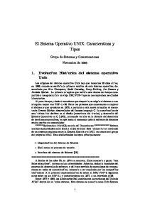 El Sistema Operativo UNIX: Caractersticas y Tipos