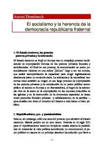 El socialismo y la herencia de la democracia republicana fraternal