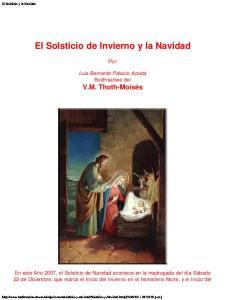 El Solsticio de Invierno y la Navidad