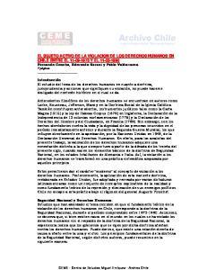 EL SUJETO ACTIVO DE LA VIOLACION DE LOS DERECHOS HUMANOS EN CHILE ENTRE EL Y EL