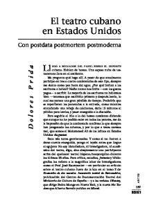 El teatro cubano en Estados Unidos