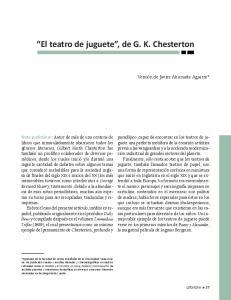 El teatro de juguete, de G. K. Chesterton