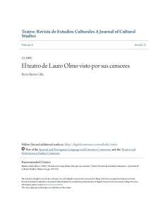 El teatro de Lauro Olmo visto por sus censores
