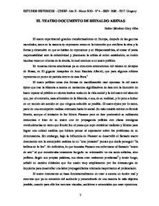 EL TEATRO DOCUMENTO DE REINALDO ARENAS