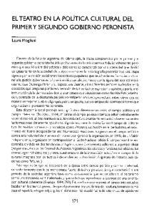 EL TEATRO EN LA POLíTICA CULTURAL DEL PRIMER Y SEGUNDO GOBIERNO PERONISTA
