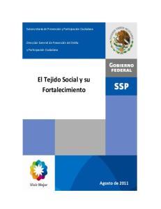 El Tejido Social y su Fortalecimiento