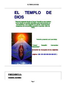 EL TEMPLO DE DIOS EL TEMPLO DE DIOS