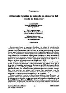 El trabajo familiar de cuidado en el marco del estado de bienestar