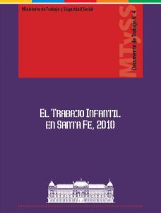El Trabajo Infantil en Santa Fe, 2010