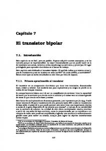 El transistor bipolar