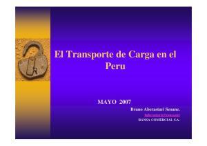 El Transporte de Carga en el Peru