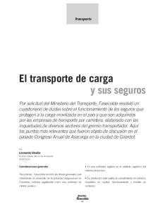 El transporte de carga
