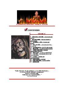 EL UNIVERSO DE STEPHEN KING - NÚMERO 19 - JULIO 1999 CONTENIDO