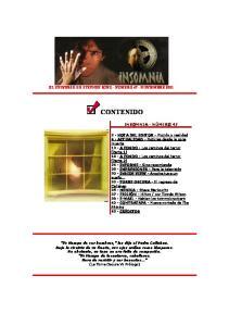 EL UNIVERSO DE STEPHEN KING - NÚMERO 47 - NOVIEMBRE 2001 CONTENIDO