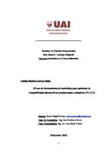 El uso de herramientas de marketing para optimizar la competitividad laboral de los profesionales contadores (P.I.C.P)