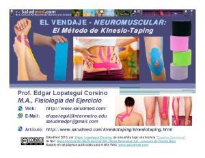 EL VENDAJE - NEUROMUSCULAR: