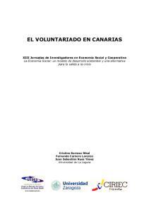 EL VOLUNTARIADO EN CANARIAS