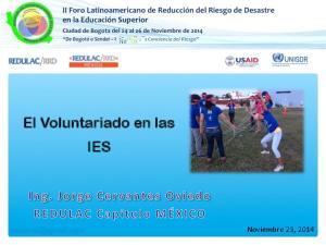 El Voluntariado en las IES
