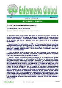 EL VOLUNTARIADO UNIVERSITARIO